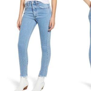 501 rhinestone mom jeans
